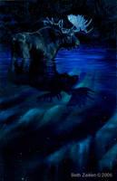Silent Night, Moosy Night by Damalia