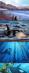 Penguin Escape Sequence by Damalia