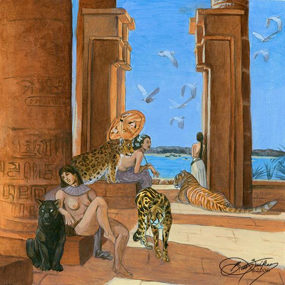 Egypt mural concept by damalia on deviantart for Egyptian mural wallpaper