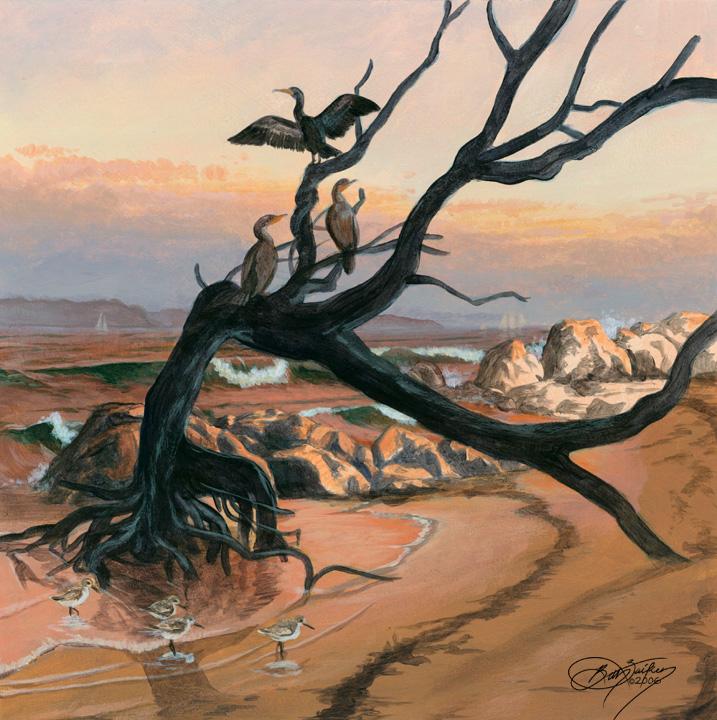 Cormorant Mural Concept II by Damalia