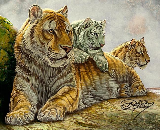 Sabertooth Family by Damalia