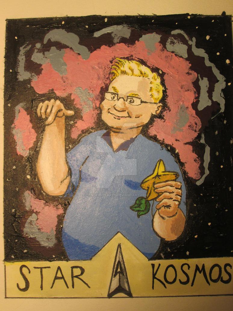 Tarot Card: The Star, 'Kosmos' by TheRustyArts