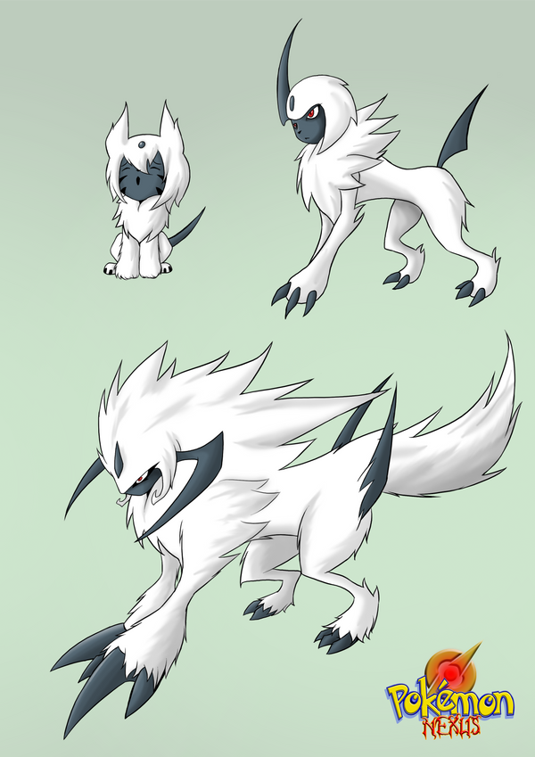 Isol and absol and bargsol by dragonmanx on deviantart - Absol evolution ...