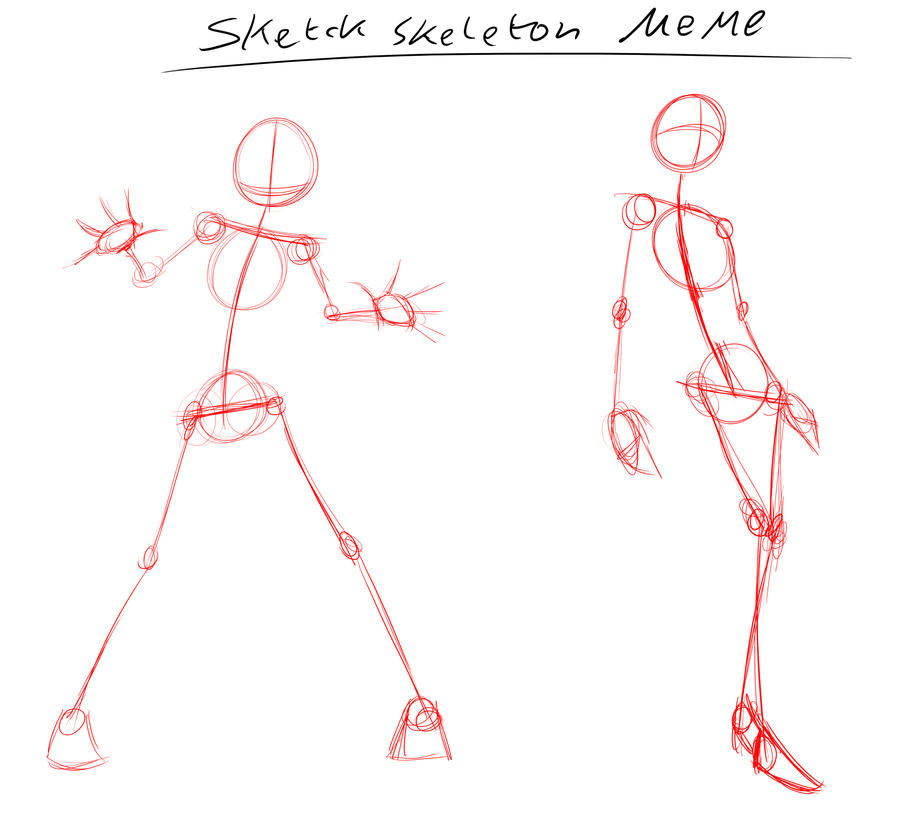 Sketch Skeleton Meme By DragonmanX On DeviantArt