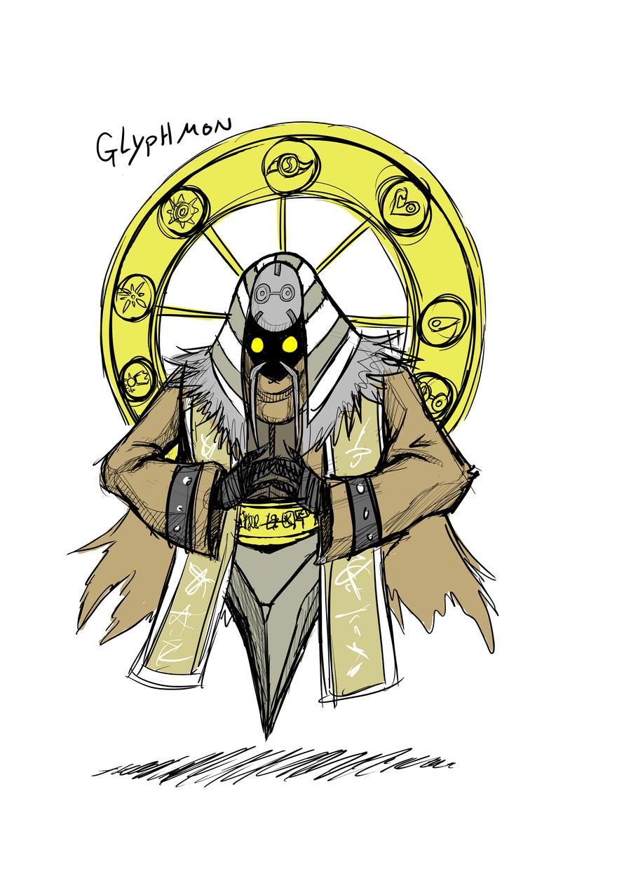 Glyphmon concept art by dragonmanX