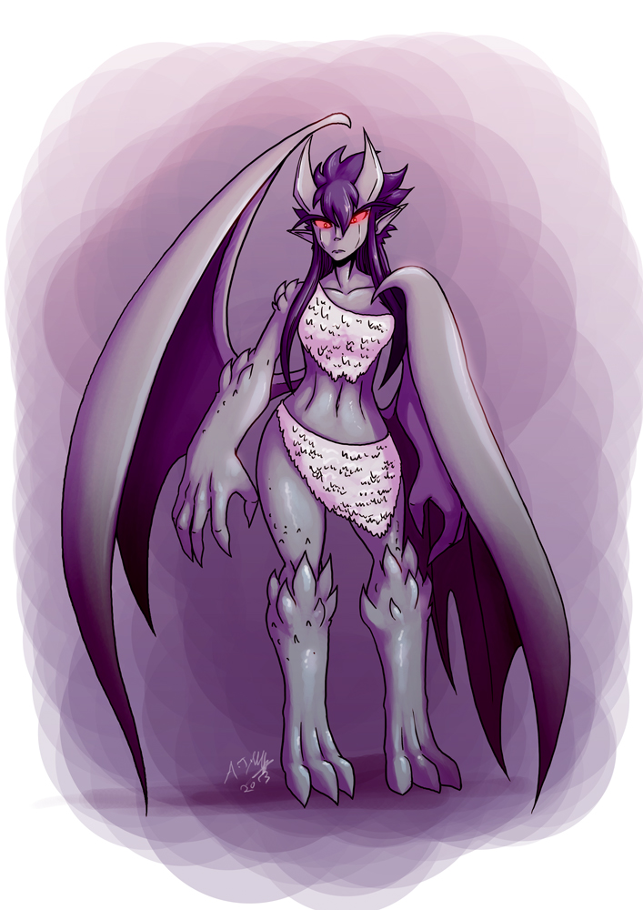 monster girl challenge 2 - Gargoyle by dragonmanX