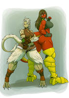 Commission - Vera and Rexy by dragonmanX
