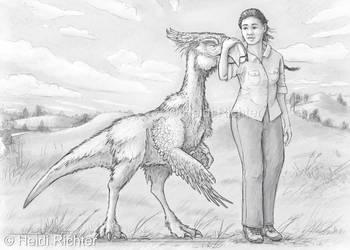 Pteroraptor, Concept Art by Heidi Richter.