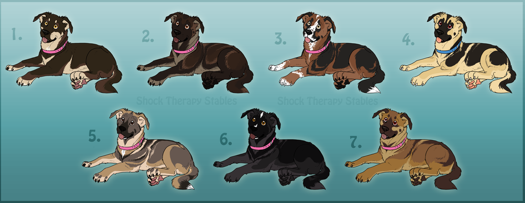 Axel x Rose Pups -CLOSED by ShockTherapyStables