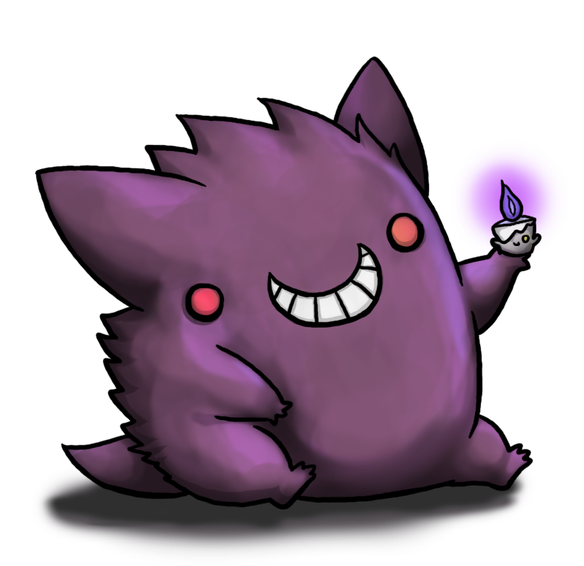 Gengar and Hitomoshi by BakaMichi on DeviantArt