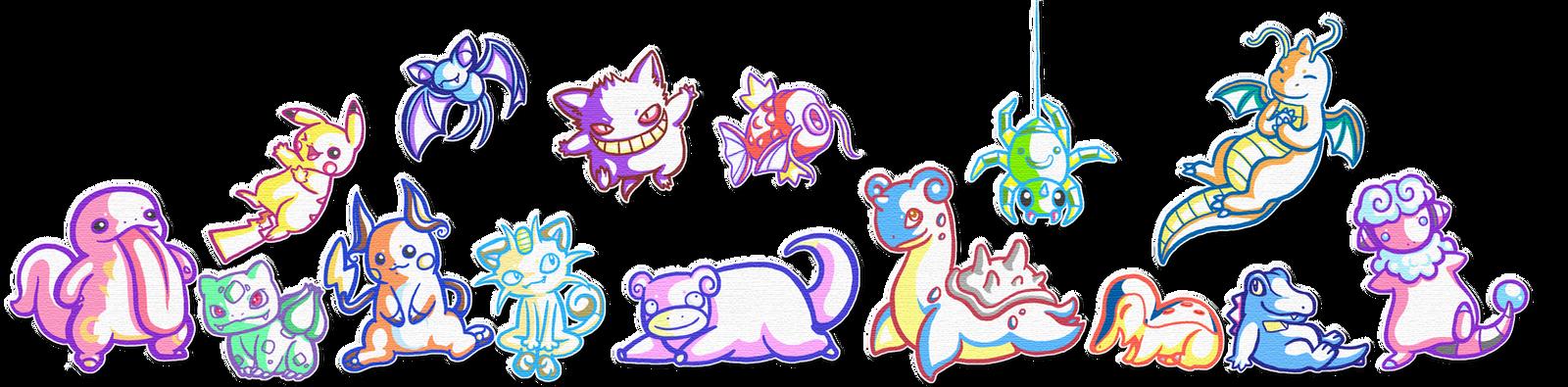 Pokemon- Sticker style by BakaMichi