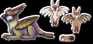 Bird Bunny Design Comm by BakaMichi