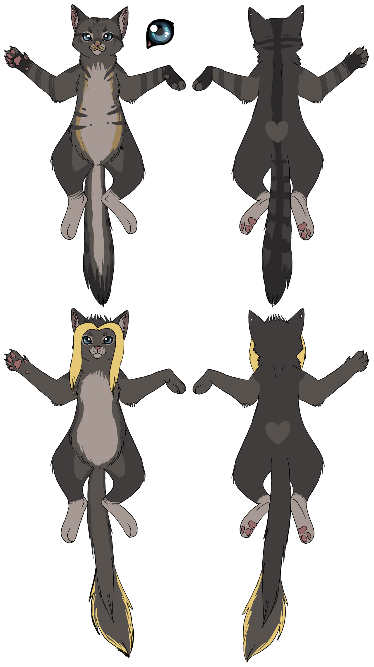 Angie Kitty Ref sheet by BakaMichi