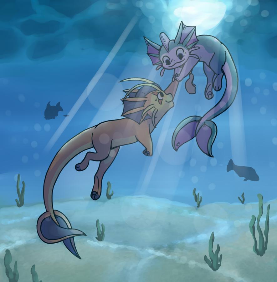 Swim With Me by BakaMichi