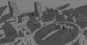 3 Point Perspective of Tatooine