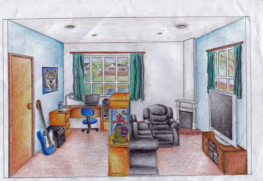 Bedroom Drawing One Point Perspective bedroom perspective drawing | pilotschoolbanyuwangi