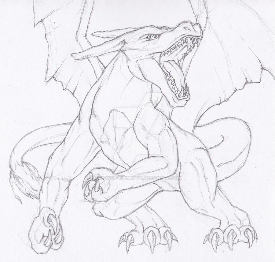 Semi-Realistic Pokemon: Charizard by Ice-wolf-elemental on ...