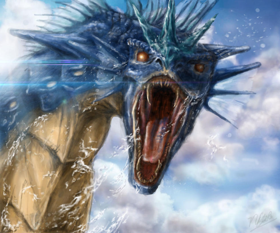 Realistic Gyarados by Ice-wolf-elemental