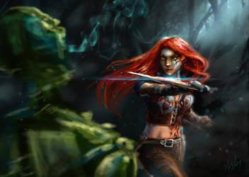 Katarina Speedpaint by Ice-wolf-elemental