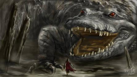 Crocodile Hunter Spitpaint by Ice-wolf-elemental