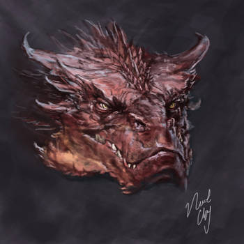 Smaug Speedpaint by Ice-wolf-elemental