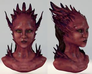 3D Harpy Creature Sculpt by Ice-wolf-elemental