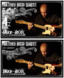 Flyer - Mathieu Rosso Quartet by penofchaos