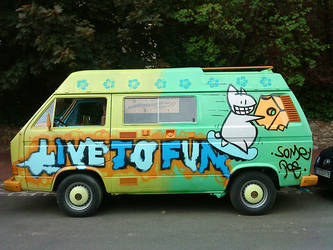 Michel's Van is Live To Fun by penofchaos