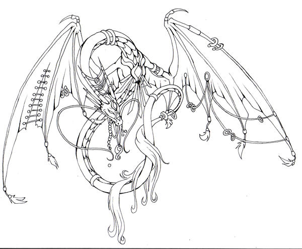 Line Art Vanity : Vanity dragon lineart by luce loup garou on deviantart