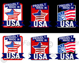 Made in USA Stamps by CherryFactory