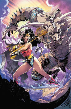 Wonder Woman and the minotaurs
