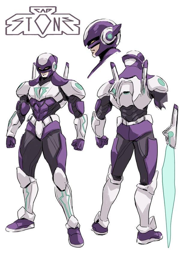 Cap Stone 90'anime style by SANTI-IKARI