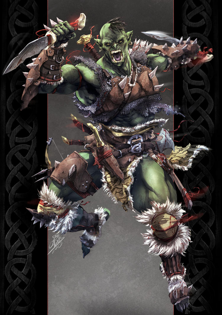 Varak the Ork by SANTI-IKARI