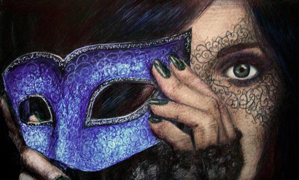 Masquerade Pen Drawing By AtahirART