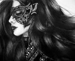 Masked (ballpoint pen drawing)