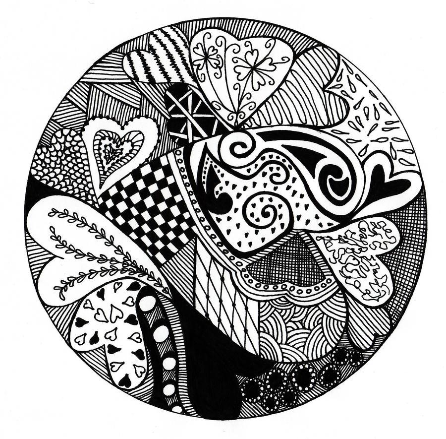 Heart Zentangle by BrollyAF on DeviantArt