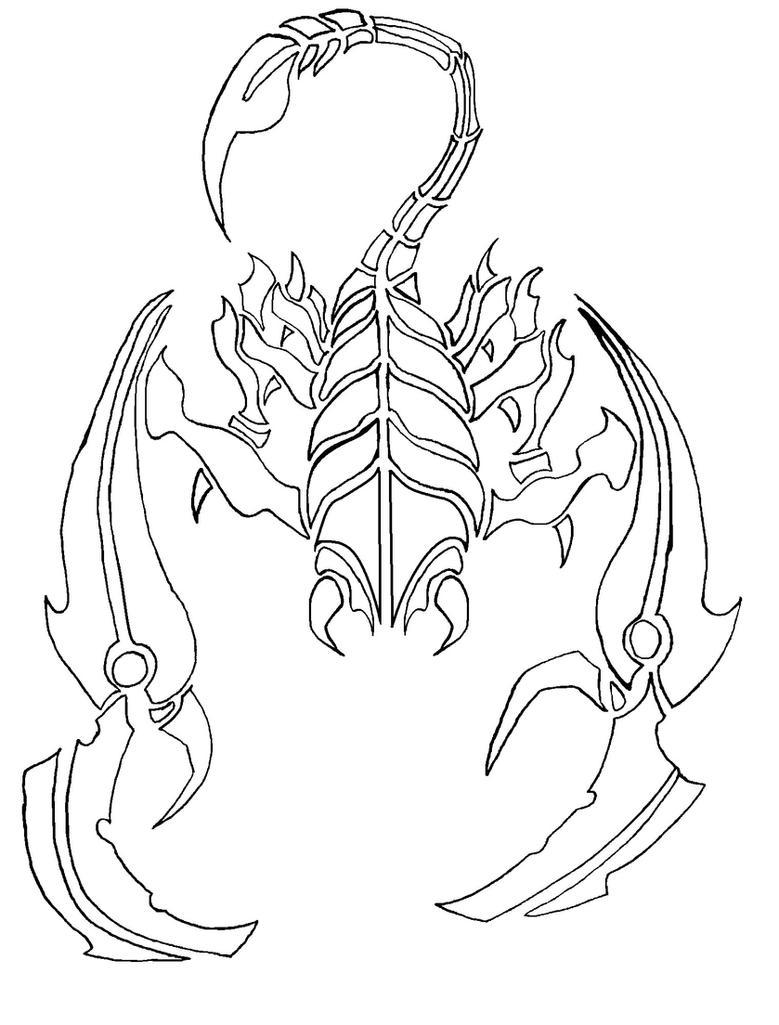 Раскраски скорпионы распечатать бесплатно
