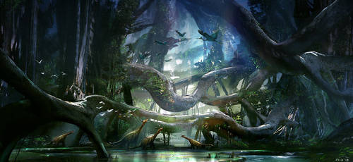 Dinosaur Forest by Fish032