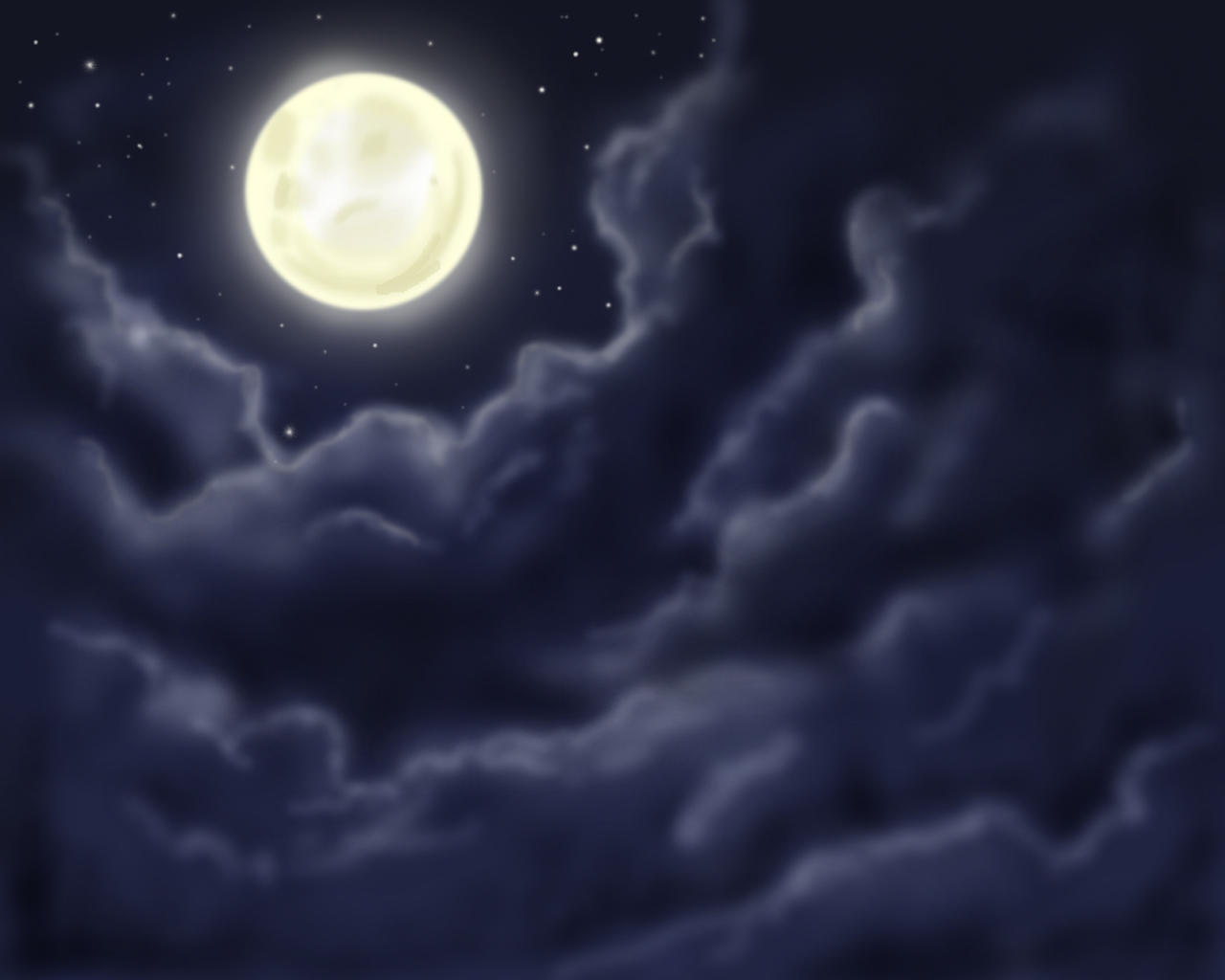 Moon by Horuni