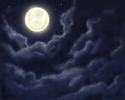 Moon by Horuni