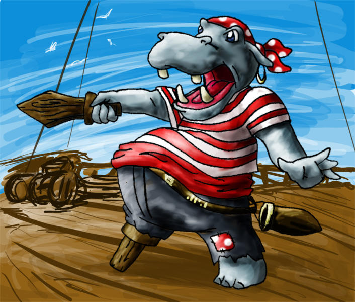 PIRATE HIPPO by Horuni
