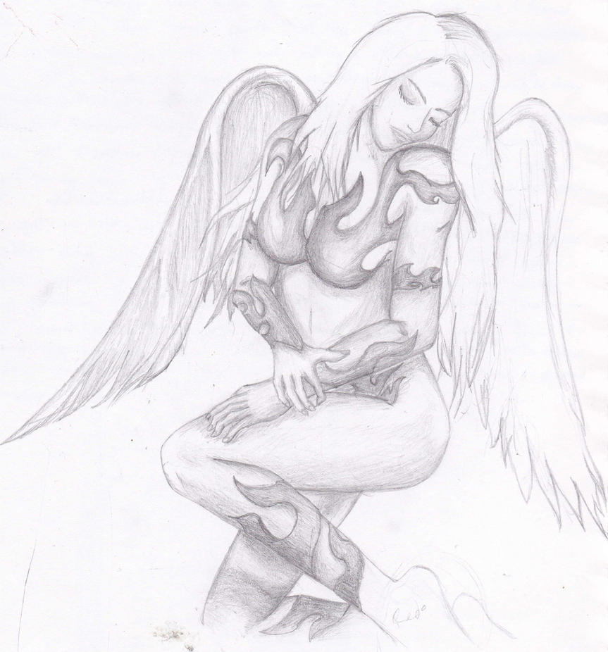 Angel Tattoo Designs For Women Free Angel Girl Tattoo Design by