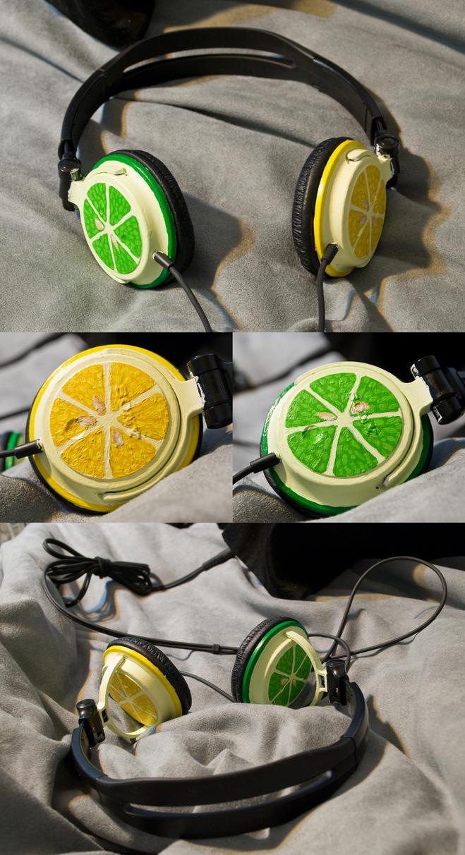 Fruit Headphones by StaticFactory