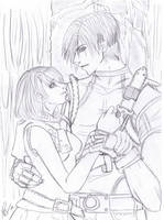 leon and ashley- come here by Foxysuji