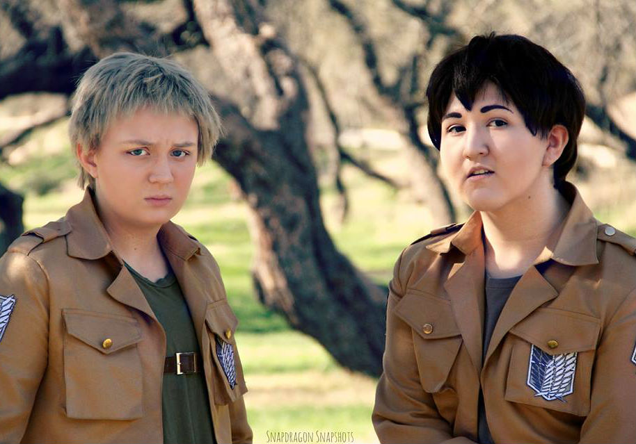 We are warriors. (Reiner Braun + Bertholdt Fubar) by titandokis