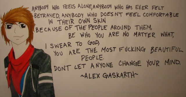 Alex Gaskarth Quote by moose-on-a-jew