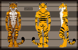 Commission: LeTigre Refsheet by DeyVarah