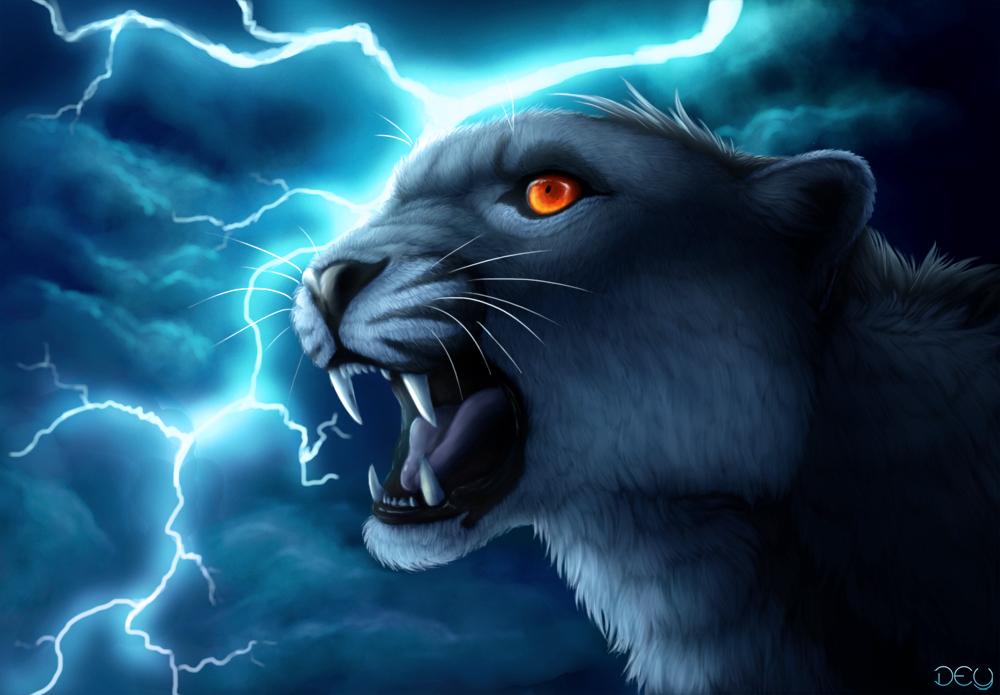 Lightning Tiger Wallpaper