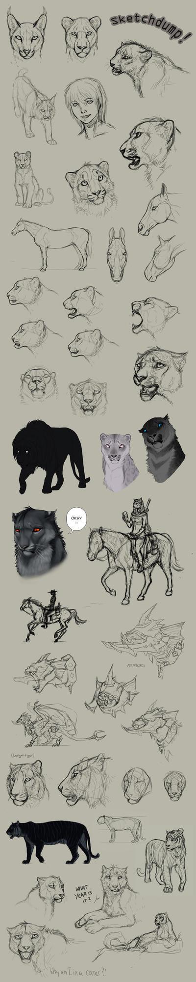 Tumblr Sketchdump of Enormity by DeyVarah