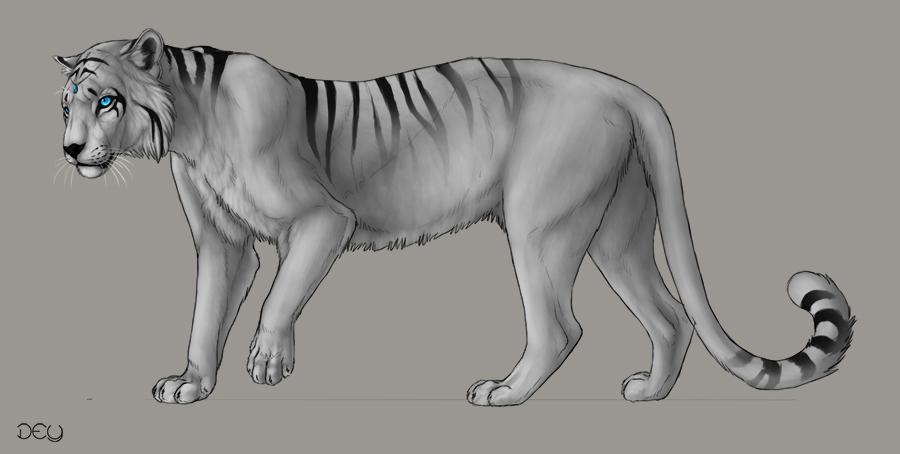 Nerovah: Tiger Design by DeyVarah